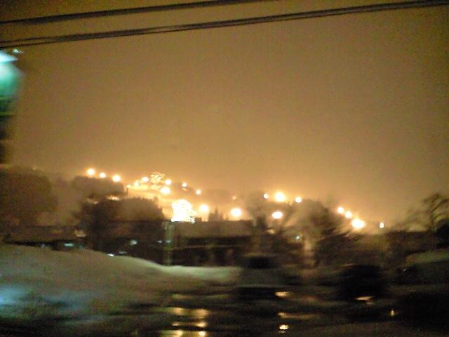 雪国到着。