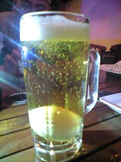 '生'ビール。